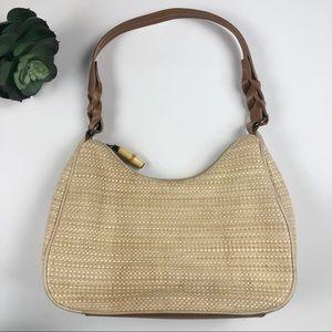 Woven Fossil Shoulder Bag